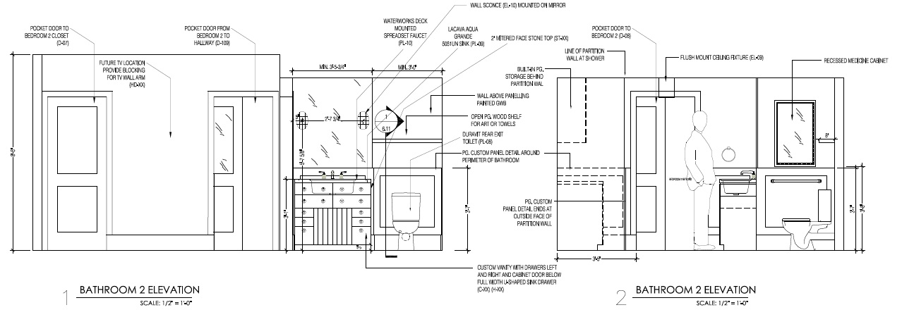 The Sink Wall Elevation In Bathroom: Kitchen Sink Cad Block
